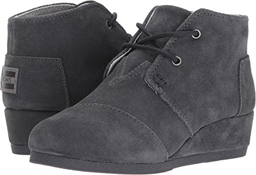 Toms Youth Desert Wedge Shoes (4.5 Big Kid M, Forged Iron Grey (Desert Wedges)