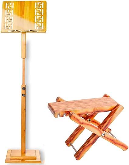 Bambú Soporte De La Partitura con El Reposapiés, 1.3m Documento ...