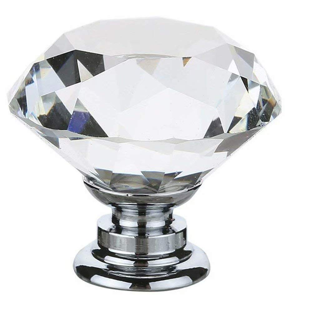 Chest Schrank mit Schrauben 2 PCS 30mm Rosa Kristallglas Diamant Form T/ürknauf Griff Pull Kn/öpfe f/ür Kinder Kid s Room Schublade Bin Kommode,K/üche Schr/änke etc