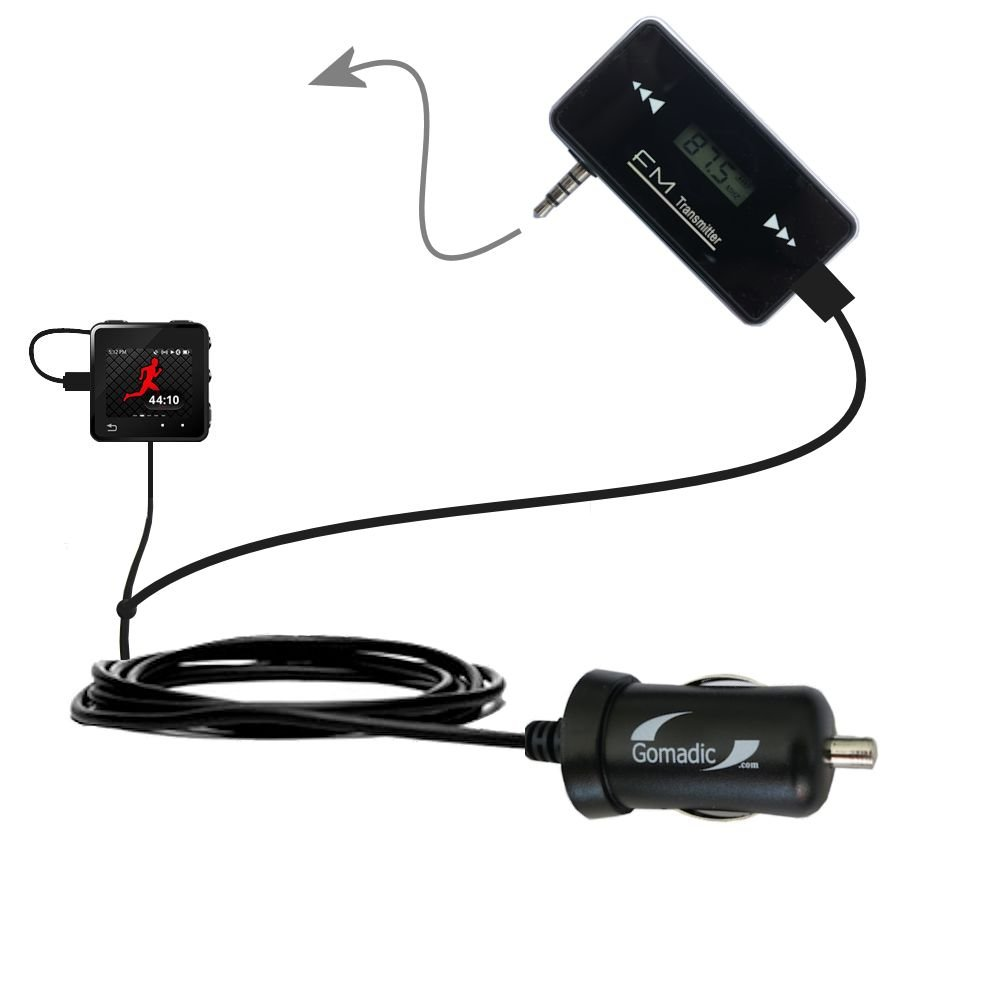 Wireless New Generation FM Transmitter desinged for Motorola MOTOACTV with Powerful Compact Car Charger Included