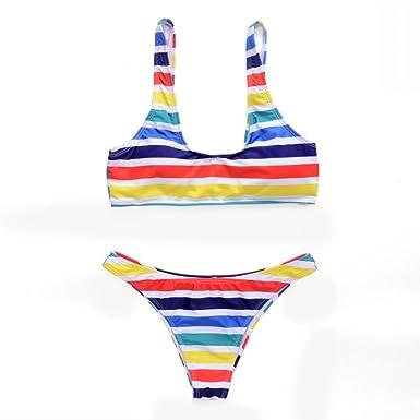 K-youth Bikini Mujer 2018 Bikinis Push up Mujer Rainbow ...