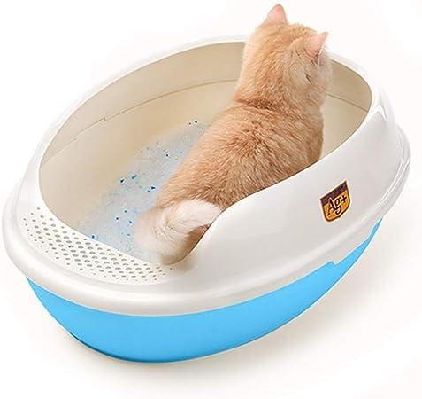 AILI Cajas de Arena Cajas de Arena para Gatos Caja de Arena for Gatos Plástico Inodoro for Mascotas al Aire Libre Mascotas portátiles al Aire Libre Lavabo de Arena (Color : B):