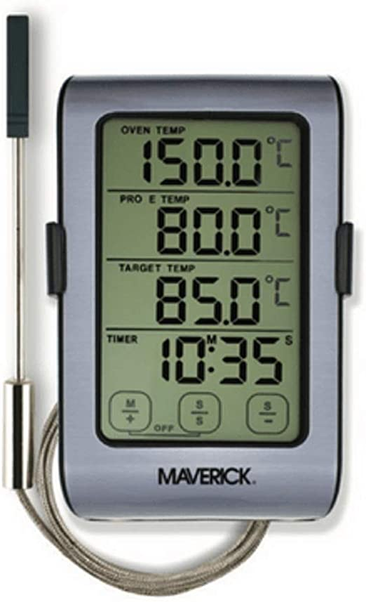 Touchscreen Funk Grillthermometer MIT 2 Fühler BBQ Grill Thermometer Smoker LED