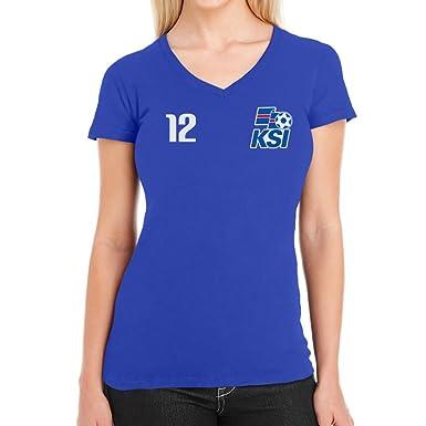 FANARTIKEL ISLAND FANSHIRT T-Shirt Damen S-XXL FUSSBALL WM 2018