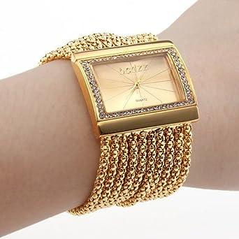 Armbanduhr damen gold  Lightinthebox Damen Uhr Armband im Diamant Stil Uhren Armbanduhr ...