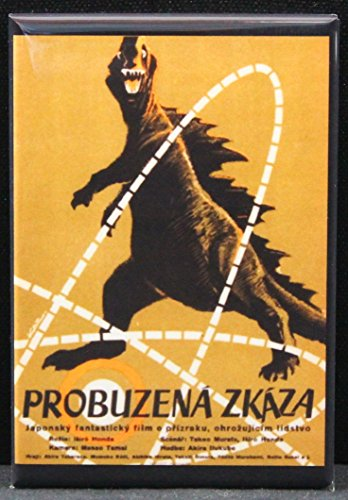 Czech Godzilla Movie Poster Refrigerator Magnet. (Magnet Godzilla)