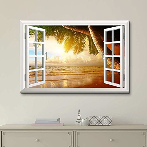Creative Window View Sunrise on The Oceanside