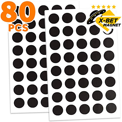 - Magnetic Dots - 80 Self Adhesive Magnet Dots (0.8