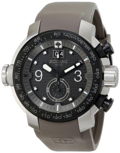 Zodiac ZMX hombre ZO8525 especiales Ops Reloj de acero inoxidable con banda de goma gris por Zodiac: Amazon.es: Relojes