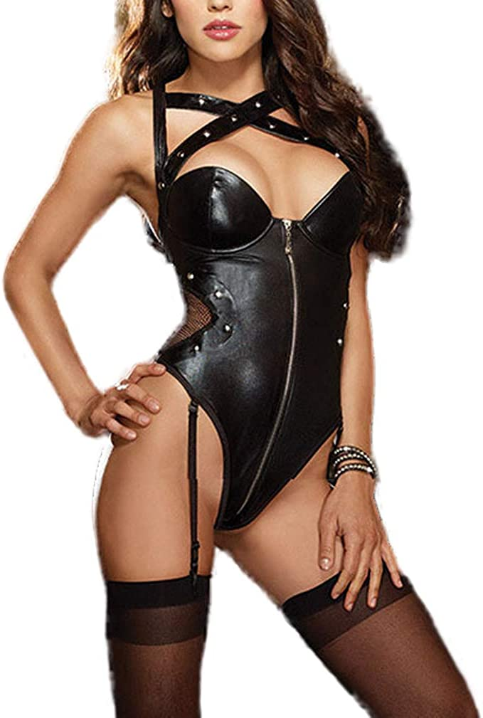 Tofox Clubwear Sexy Underwear Bodysuit Lenceria Sexy Body para Mujer Halter Backless Mini Bodycon Vestido Vestidos Sexys De Noche
