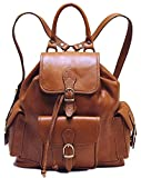 Floto Toscana Leather Backpack in Brown Italian Calfskin Leather For Sale