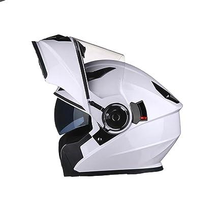 MERRYHE Cascos De Rostro Completo Unisex Casco De Moto Para Hombre Mujeres Flip Up Cool Hardhat