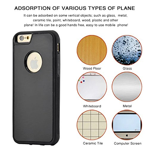 iPhone 7 Plus Custodia CaseforYou Anti-Gravity Adsorption Case Magical Sticky Snap-On Back Cover Shell Protector, Nero