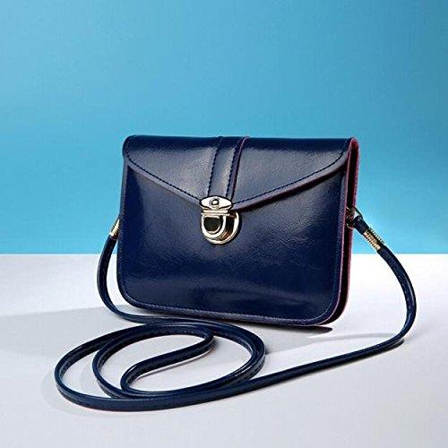 Bag Dark Shoulder Small Purse Handbag Shouder Messenger Zero Sale Phone Blue Certificate Leather Bag Bag Fashion Messenger Bag Bag Bags Crossbody Bag Zycshang Bags Single Purse Casual Coin Mini YpqvZUn