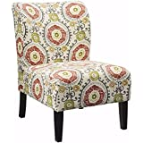 WC WS5626 Contemporary Honnally Accent Chair, Floral