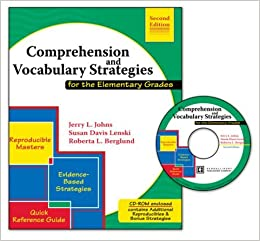 Book Comprehension and Vocabulary Strategies for the Elementary Grades w/ CD ROM by JOHNS JERRY LENSKI SUSAN BERGLUND ROBERTA L (2006-08-11)
