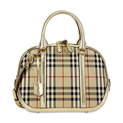eb38c9cc1ba6 Burberry Horseferry Check and Leather Clutch - Honey Gold  Amazon.ca   Watches
