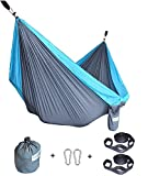 Cutequeen Double Nest Parachute Camping Hammock with Tree Straps by For Travel Camping,Backpacking,Kayaking