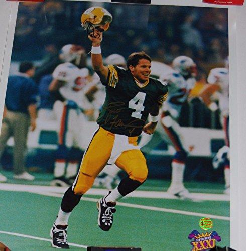 Brett Favre Autographed Photograph - 16x20 W hologram - Autographed NFL Photos Brett Favre 16x20 Autographed Photograph