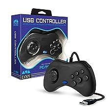 Cirka Sega Saturn-Style USB Controller for PC/ Mac (Black)