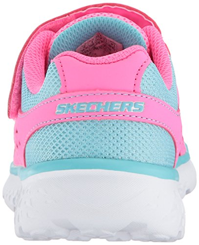 Pictures of Skechers Kids Girls' GO Run 400-Sparkle 81358L Neon Pink/Aqua 8