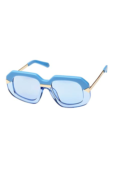 109d676d8575 Image Unavailable. Image not available for. Color  Karen Walker Hollywood  Creeper Square Womens Sunglasses Crystal Sky Blue ...