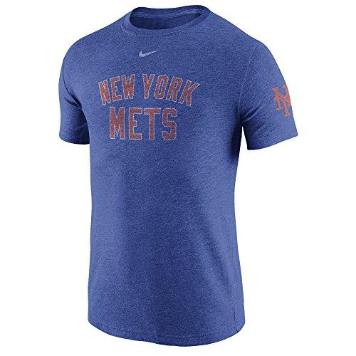 Nike Men's Mets MLB TB DNA Tee Shirt Royal Heather Size Small