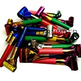 Let's Party Party Blowers Blowouts Birthday Loot Bag Filler Noise Toy Foil Colors 20 x