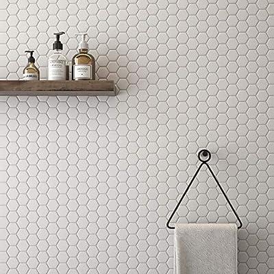 "1 Carton/10 SQFT   White 2"" Hexagon Mosaic Tile"