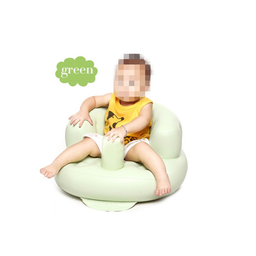 Inflatable Toddlers Sit Me Up Stool Training Seat Dining Bath Chair Baby Sofa Green Teckcool
