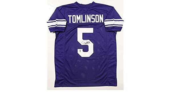 a50a1d047 LaDainian Tomlinson Autographed Purple College Style Jersey- JSA Auth 5 at  Amazon's Sports Collectibles Store