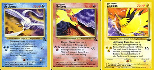 (Pokemon Card - Black Star Promos #21, #22 and #23 (Articuno, Moltres and Zapdos ) - All Factory Sealed)