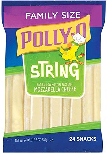 Mozzarella String (KRAFT CHEESE POLLY-0 STRING MOZZARELLA 24 OZ PACK OF 2 )