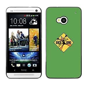 // PHONE CASE GIFT // Duro Estuche protector PC Cáscara Plástico Carcasa Funda Hard Protective Case for HTC One M7 / Duck Xing - Funny /