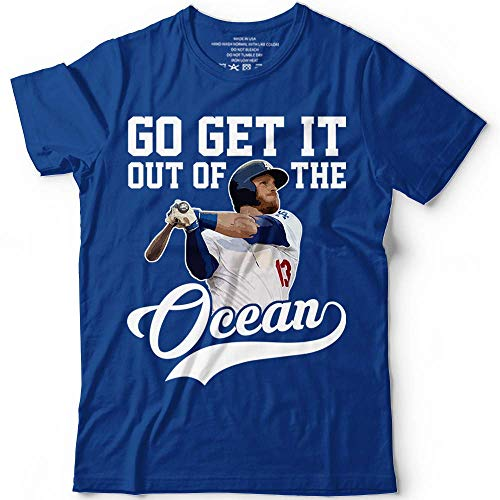 Max-Muncy No.13 Go Get It Out Of The Ocean Los Angeles Funny Baseball Jersey Customized Handmade Hoodie/Sweater/Long Sleeve/Tank Top/Premium T-shirt