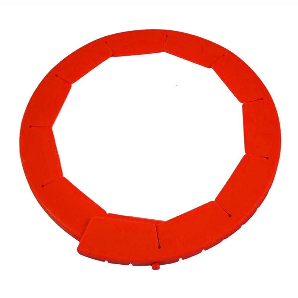 Silicone Pie Crust Saver,Food-safe Silicone Protector,Fit 8.5'' - 11.5'' (Red)