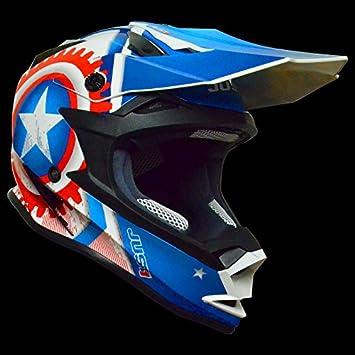 Just 1 Helmets 606321018100105 Casco J32, Moto Star America, tamaño: L