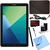 Samsung Galaxy Tab A 10.1 Tablet PC Black w/ S Pen 16GB Bundle includes Tablet, 16GB MicroSD Card, Microfiber Cloth, Cleaning Kit, Stylus Pen with Clip, Protective Neoprene Sleeve and Metal Ear Buds