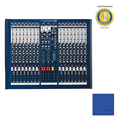 Soundcraft LX7ii 16 Professional 16-Channel Mixer Console with Microfiber and 1 Year Everything Music Extended Warranty