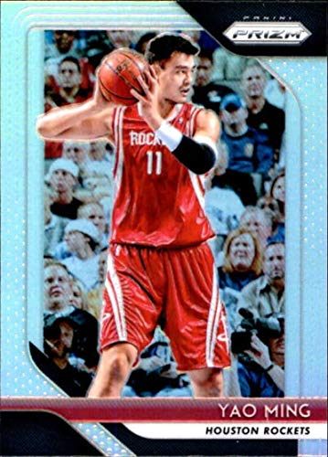 - 2018-19 Prizm Silver Prizms Basketball #135 Yao Ming Houston Rockets Official NBA Trading Card From Panini America