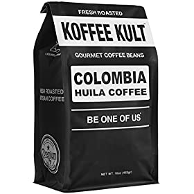 Koffee Kult Coffee Beans Colombia Huila – Highest Quality Delicious Organically Sourced Fair Trade – Whole Bean Coffee – Fresh Gourmet Aromatic Artisan Roasted