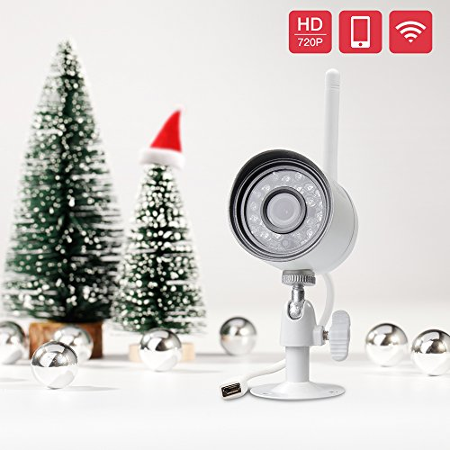 Funlux 720p HD Wireless Outdoor Security Camera Night Vision Video Surveillance Wifi Camera