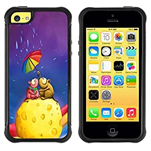 Suave TPU GEL Carcasa Funda Silicona Blando Estuche Caso de protección (para) Apple Iphone 5C / CECELL Phone case / / Colorful Umbrella Rainbow Cheese Love Art /