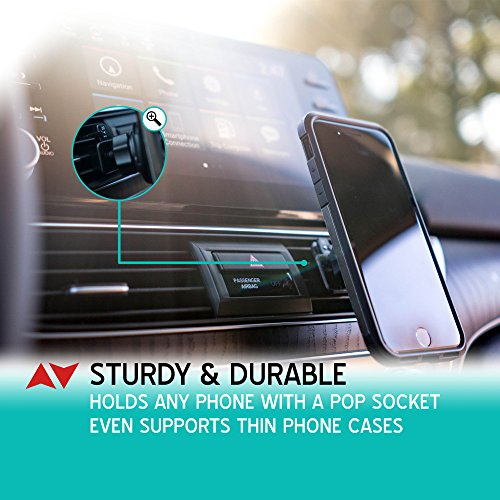 HOT NEW Pop Socket Car Mount by MiniMAX - Air Vent Adapter for Expanding Stand & Grip – Adjustable Switch Lock Technology – Works with iPhone and Android Photo #4