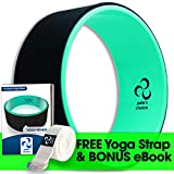 pete's choice Ultimate Dharma Yoga Wheel Prop with Bonus eBook & Free Yoga Strap | Comfortable & Durable Yoga Balance Accessory | Increase Flexibility | Ideal Back Stretcher