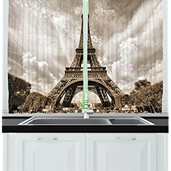 Amazon Com Paris Decor For Bedroom Curtains City Decor