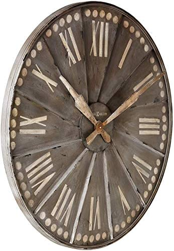 Howard Miller Stockard Wall Clock 625-630 Oversized Recessed Metal with Quartz Movement
