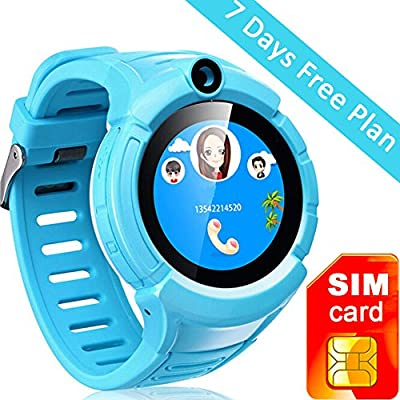 Kids GPS Tracker Smart Watch With Camera SOS Call Anti-lost Alarm Pedometer Sport Fitness Activity Round Wristwatch Bracelet Smartwatch for Children Boys girls