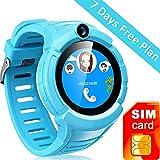 Kids GPS Tracker Smart Watch With Camera SOS Call Anti-lost Alarm Pedometer Sport Fitness Activity Round Wristwatch Bracelet Smartwatch for Children Boys girls