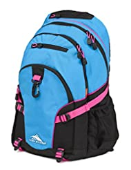 High Sierra 53646-4972 Loop Backpack, Pool/Black/Flamingo, International Carry-On